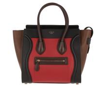 Micro Luggage Tote Multicolor Bright Red