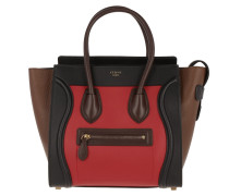 Micro Luggage Tote Multicolor Bright Red rot