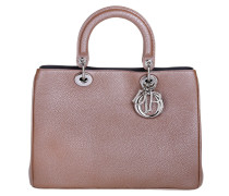 Tasche - Lady Dior Medium Metallized Taurillon Petal