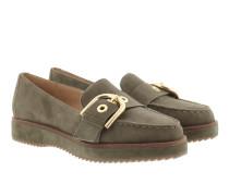 Flat Cooper Slip On Olive Schuhe