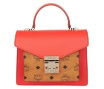 Satchel Bag Small Patricia Color Block Visetos Hot Coral