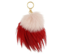 Sister Pom Key Charm Bright Red Pink Schlüsselanhänger rot