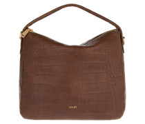 Athina Cortina Hobo Bag Croco Soft Brown