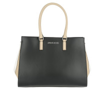 Top Handle Bag Nero/Beige/White Tote