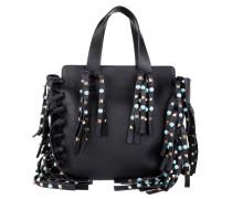 Tasche - Studded Fringe Crossbody Bag Black