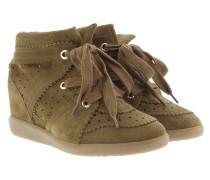 Bobby Sneakers Velvet Stainer Basket Brown Sneakers