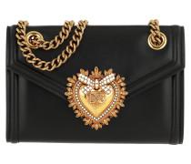 Umhängetasche Devotion Wallet On Chain Leather Black schwarz