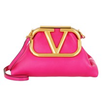 Clutch Supervee Leather Cyclamin Pink