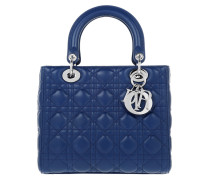 Lady Dior Medium Tote Bleu