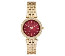 Armbanduhr - Ladies Mini Darci Watch Gold-Tone/Red