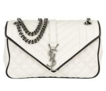 YSL Monogramme Medium Chain Poncho Lux White/ Black Umhängetasche