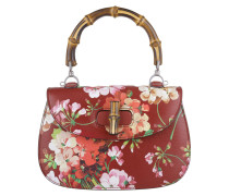 Tasche - Bamboo Classic Leather Top Handle Satchel Floral Red