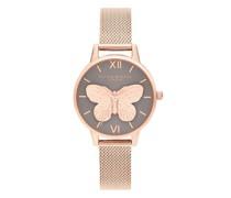 Uhr Watch 3D Butterfly