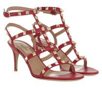 Rockstud Sandal Red Sandalen