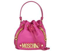 Logo Mini Nylon Bucket Bag Pink Beuteltasche