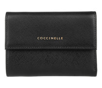 Kleinleder - Metallic Saffiano Leather Wallet Nero