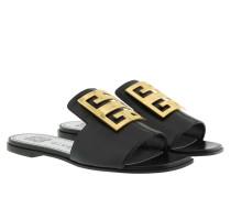Sandalen 4G Sandals Grained Leather Black