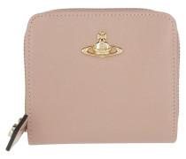 Opio Saffiano Zip Wallet Medium Pink Portemonnaie rosa