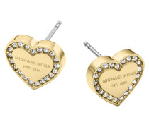 Ladies Brilliance Heart Earrings Schmuck
