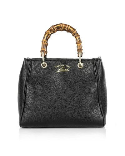 gucci damen gucci tasche exclusive bamboo mini crossbody black in braun schwarz. Black Bedroom Furniture Sets. Home Design Ideas