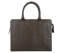 Handtasche - Men's Briefcase Portacarte Intrecciato Espresso