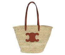 Shopper Large Triomphe Basket Bag Raffia Tan