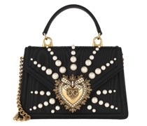 Umhängetasche Small Mohair Devotion Bag with Pearl Embroidery Black