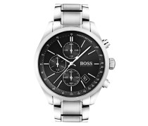 Uhr Chronograph Grand Prix Casual Sport Silver/Black