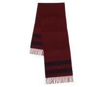 Accessoire Wool Blanket Oblong Scarf Wine Navy