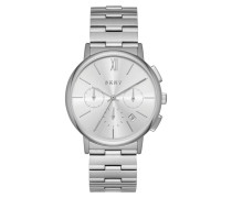 Ladies Willoughby Stainless Steel Chronograph Watch Silver Armbanduhr silber