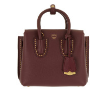Milla Studded Outline Tote Mini Rustic Brown