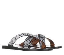 Sandalen Logo Strap Sandals White Black