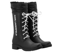 Boots Salvo Lace Front Hi Rain Boot Black