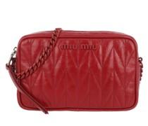 Umhängetasche Logo Plaque Crossbody Bag Leather Rosso
