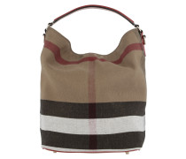 Tasche - Canvas Check Medium Ashby Hobo Cadmium Red - in rot