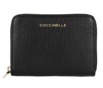 Metallic Soft Wallet Black Portemonnaie