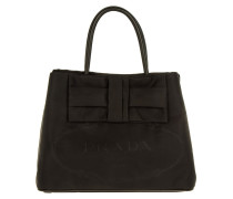 Jacquard Fiocco Shopping Bag Nero Tote schwarz
