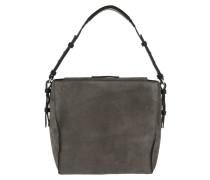 Thirtyfive Cube Hobo Bag M Luxury Suede Grey