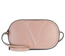 Umhängetasche V Logo Crossbody Bag Calf Rose Quartz