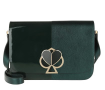 Umhängetasche Nicola Metallic Bicolor Twistlock Shoulder Bag Deep Evergreen