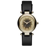 Armbanduhr - Ladies Dotty Leather Black/ Gold