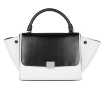 Trapeze Satchel Bag Small Black White weiß