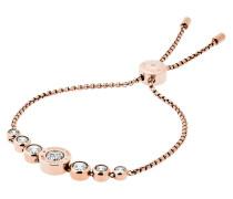 Cubic Zirconia Slider Bracelet Rosegold-Tone Schmuck
