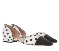 Schuhe Maison Plunge Dorsay Flat Optic White