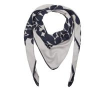 Schal - Print Scarf Grey/Dark Blue