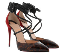 Suzanna 100 Leo Patent Nappa Shiny Pumps Brown