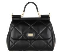 Satchel Bag Sicily Medium Handle Black