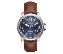 Armbanduhr - Gents Paxton Watch Silver-Tone Leather Brown
