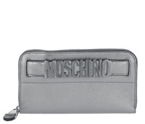 Quilted Logo Wallet Silver Portemonnaie
