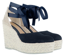 Hamptons HWV Suede Wedges Patriot Blue Sandalen